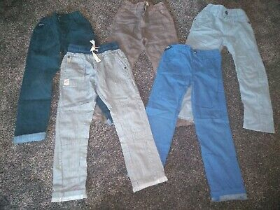 Boys Bundle Of 5 Pairs Of NEXT Jeans & Trousers Age 4-5 Years Excellent...