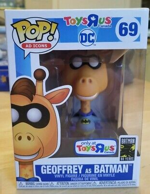 Funko Pop! Ad Icons DC Geoffrey as Batman #69 Toys R Us Excl. IN HAND!