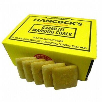 Hancock's Garment / Fabric Marking Tailors Chalk Squares Yellow - Pack of 50