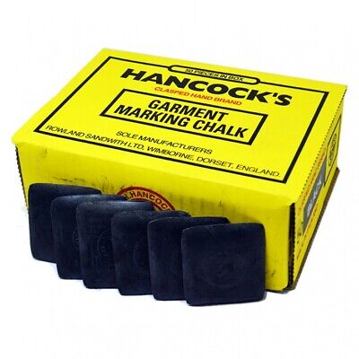 Hancock's Garment / Fabric Marking Tailors Chalk Squares Black- Pack of 50