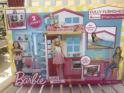 Barbie Doll House Dream with Furniture 2 Story 14 piece NEW in box Free Shipping