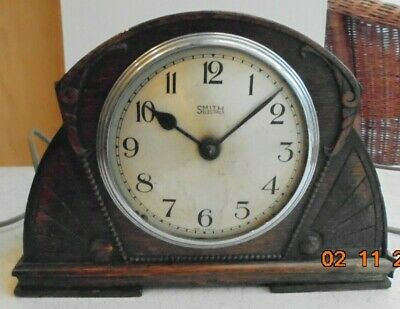 """SMITH Electric Mantel Clock (H 8.5"""" Width 12"""") Restoration/Parts PAT Tested"""