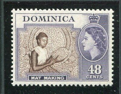 Dominica QEII 1954-62 48c deep brown & violet SG155 MNH