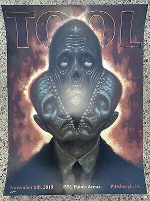 Tool Poster Pittsburgh PPG Paints 2019 concert tour limited edition holographic