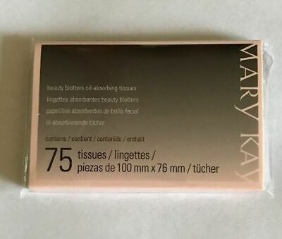 Mary Kay Beauty Blotters Oil -Absorbing 75 Tissues BRAND NEW FREE SHIPPING
