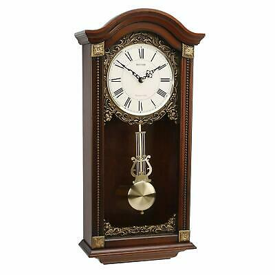 Rhythm Wooden Arch Top Pendulum Clock - Westminster Chime