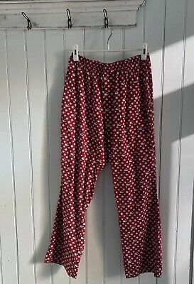 Vineyard Vines Women XS Lounge Bottoms Pajama Pants Red Snowflake Santa Hat