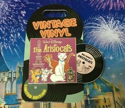 THE ARISTOCATS Disney Vintage Vinyl 2019 Pin Disneyland Record Slider LE3000