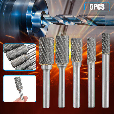 SXM-SXM 2 Double Tungsten Cutting Kit Solid Carbide Rotary Rotating Steel Shank Torsion Drill Bit for Rotary Tools Drill