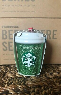 Starbucks Holiday 2019 Green Glitter Cup Ornament  - Exclusive