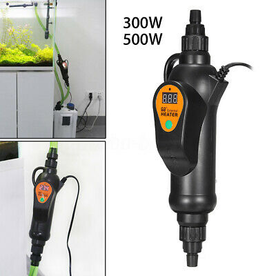 300/500W Submersible External Heater Inline Aquarium Fish Tank Thermostat