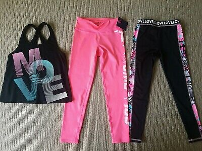 Girls Size 10 gap fit leggings' NWT! + elite leggings & tank top EUC!
