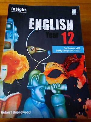 English year 12 Insight Guide For new VCE Design 2017-2020 1st Edition