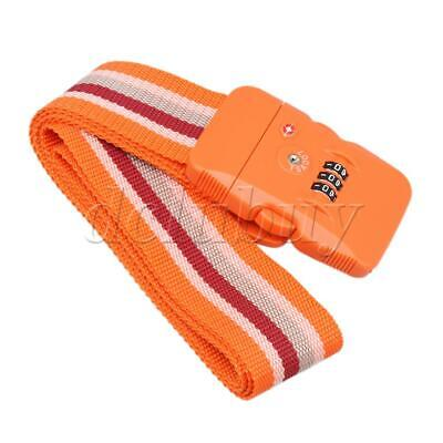 Luggage Strap with Lock for Travel Luggage Suitcase NON-SLIP 5 cm Orange