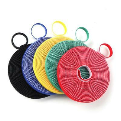 5Colors 1*500cm Double Sided Hook and Loop Fastener Tape Cable Ties Strap