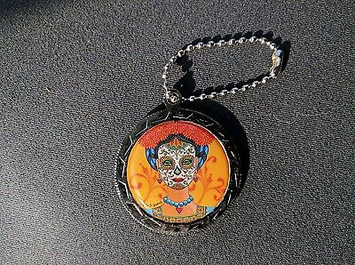 California State Lottery Scratchers Round Charm 2016 Dia De Los Muertos