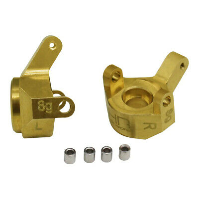 Hot Racing SXTF21H Brass Front Steering Knuckle Axial SCX24 Axles