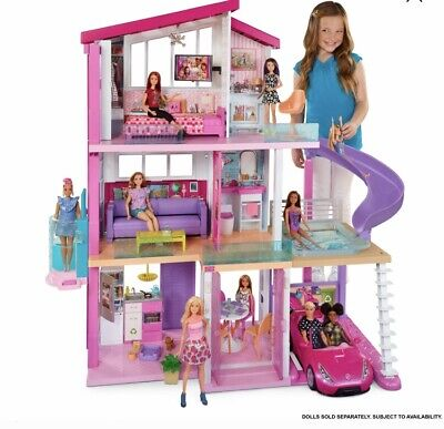 Barbie Dream House w/Elevator New Edition With Carport And Pool Slide