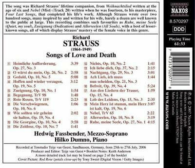 Strauss Songs of Love  Death