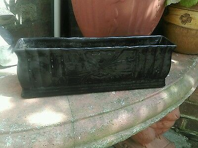Vintage art deco black vase letter paper rack flower holder mantel feature