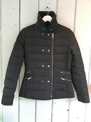 Zara Down-filled Black Fitted Padded/Puffa Jacket, Small/8