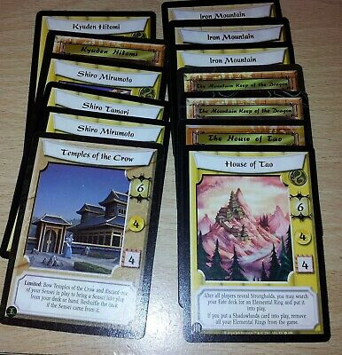 L5R - Legend of the Five Rings CCG - Dragon Clan & Monk Stronghold lot x 13