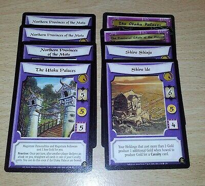 L5R - Legend of the Five Rings CCG - Unicorn Clan Stronghold lot x 8