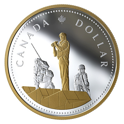 2019 CANADA MASTERS CLUB PEACEKEEPING RENEWED DOLLAR 1$ 2oz. PURE SILVER COIN