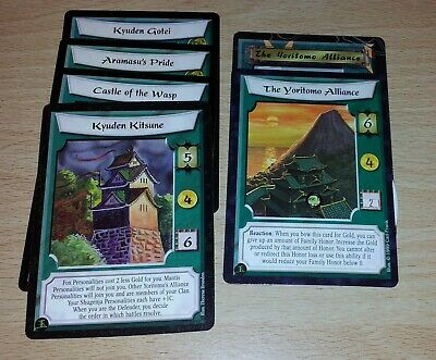 L5R - Legend of the Five Rings CCG - Mantis Clan Stronghold & counter lot x 6