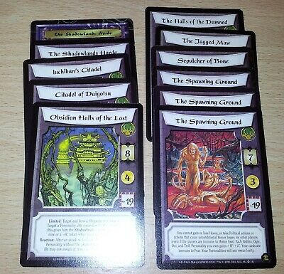 L5R - Legend of the Five Rings CCG - Shadowland Stronghold lot x 11