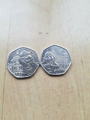 Uncirculated 2019 PADDINGTON BEAR AT ST PAUL'S CATHEDRAL & THE TOWER 50P COIN'S