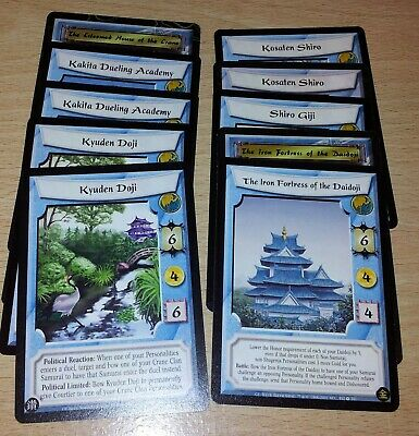 L5R - Legend of the Five Rings CCG - Crane Clan Stronghold lot x 10