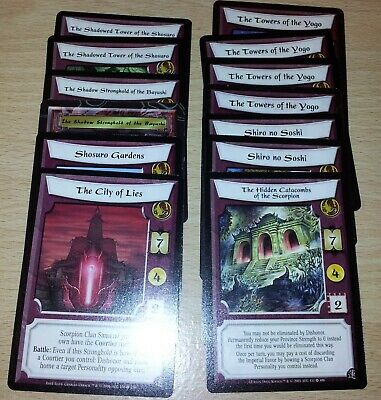 L5R - Legend of the Five Rings CCG - Scorpion Clan Stronghold lot x 13