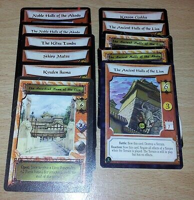 L5R - Legend of the Five Rings CCG - Lion Clan Stronghold & counter lot x 12