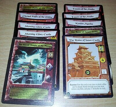 L5R - Legend of the Five Rings CCG - Phoenix Clan Stronghold & counter lot x 10