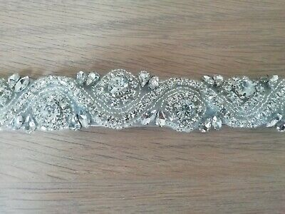 Crystal And Jewels Wedding Dress tie Belt