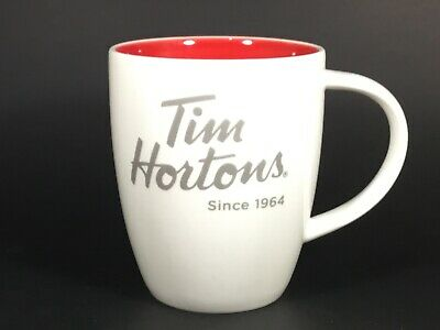 """Preowned Limited Edition #14 (2014) Tim Hortons """"Since 1964 Red Coffee Tea Cup"""