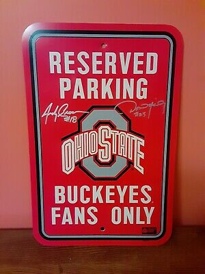 """Ohio State Buckeyes Reserved Parking Buckeye Fans Only Sign 8/"""" x 12/"""" FAST SHIP"""