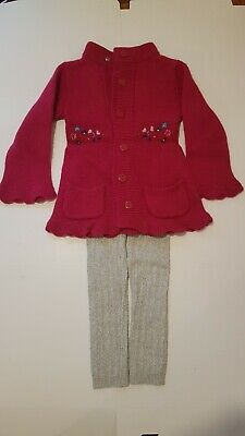 Strawberry faire toddlers jumper,70% lambswool,2-3years + George warm leggins