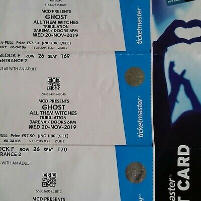 Three Ghost Tickets Dublin November 20 3Arena