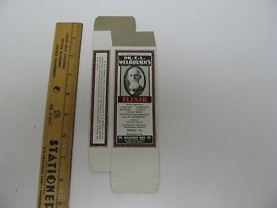 Dr E.l. Welbourn's Elixir Patent Medicine Box Union City In Advertising Laxative