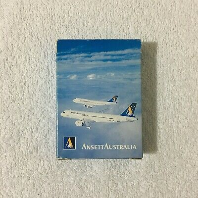 Ansett Australia Airlines Vintage 90's Plastic Coated Playing Cards