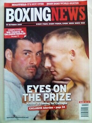 Boxing News 19 Oct 2007 - Vintage - Holyfield - Kessler - Mint Condition