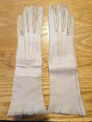 Vintage Dents Ladies Soft Leather Gloves size 7