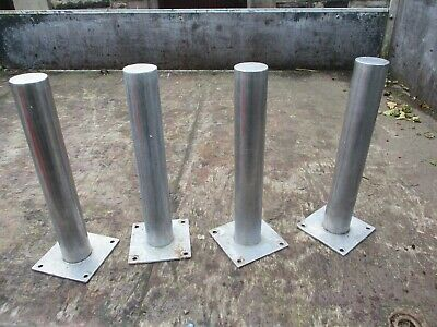 4 Stainless Steel Small Bollards Parking Security Posts Driveway Barrier Fence