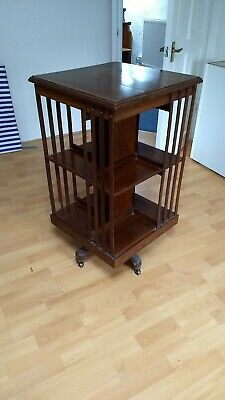Edwardian Antique Mahogany Revolving Bookcase