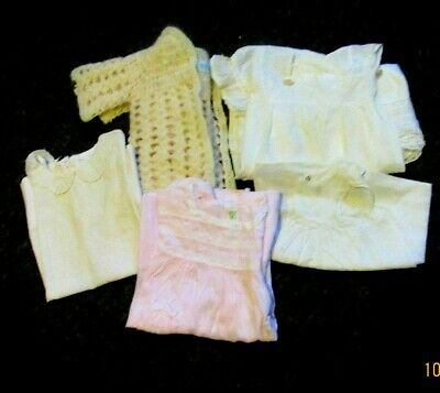Lot of antique/vintage childrens & baby clothing plus soft leather shoes