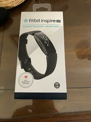 Fitbit Inspire HR Heart Rate Fitness Tracker - One Size S & L Bands  Black NEW