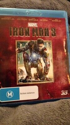 Iron Man 3 - 3D Blu-ray ONLY NO 2D  - Region B  NEW/UNSEALED