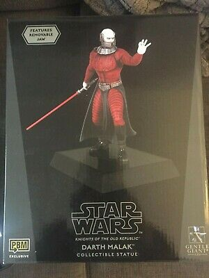 Star Wars Knights of The Old Republic Darth Malak Statue MISB New Sealed Sith